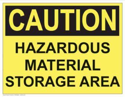 21294 Caution Hazardous Material Storage Area