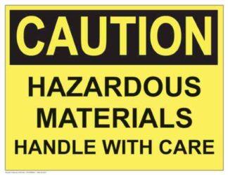 21293 Caution Hazardous Materials Handle With Care