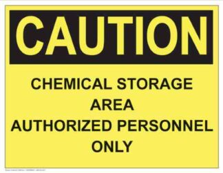21288 Caution Chemical Storage Area