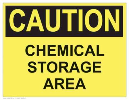 21285 Caution Chemical Storage Area (Yellow)