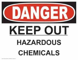 21264 Danger Keep Out Hazardous Chemicals