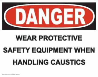 21275 Danger Wear Protective Safety Equipment