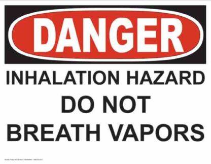 21263 Danger Inhalation Hazard Do Not Breath Vapors