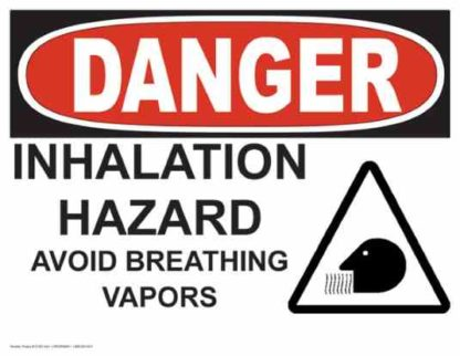 21262 Danger Inhalation Hazard with Breathing Symbol