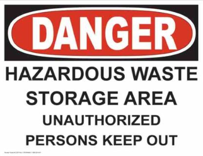 21257 Danger Hazardous Waste Storage Area