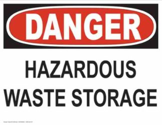 21256 Danger Hazardous Waste Storage