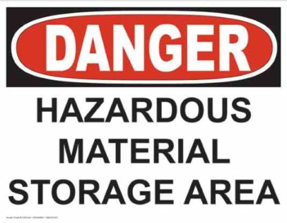 21254 Danger Hazardous Material Storage Area