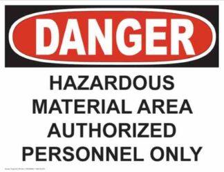 21253 Danger Hazardous Material Area