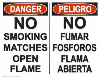 22849 Danger No Smoking Matches Open Flame (Bilingual)