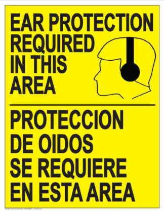 22841 Ear Protection Required In This Area (Bilingual)