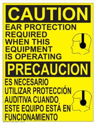22837 Caution Ear Protection Required When Operating