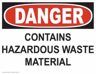 21246 Danger Contains Hazardous Waste Material