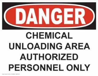 21245 Danger Chemical Unloading Area