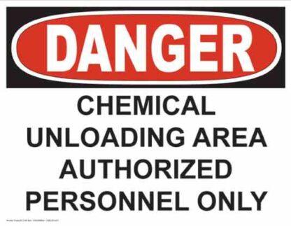 21245 Danger Chemical Unloading Area