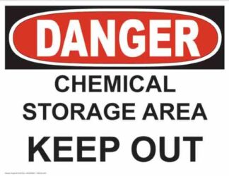 21243 Danger Chemical Storage Area Keep Out