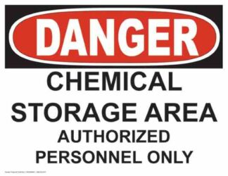 21240 Danger - Chemical Storage Area