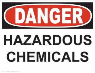 21238 Danger Hazardous Chemicals