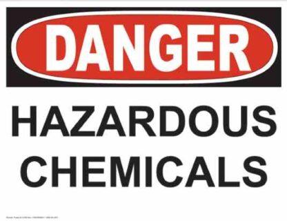 21238 Danger Hazardous Chemicals