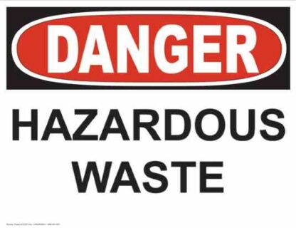 21237 Danger Hazardous Waste