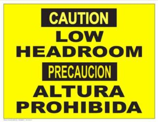 22854 Caution Low Headroom (Bilingual)