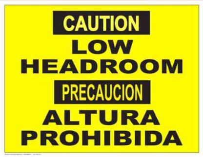 22854 Caution Low Headroom (Bilingual)