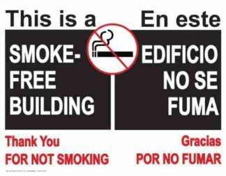 22850 This Is A Smoke Free Building (Bilingual)