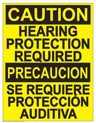 22829 Caution Hearing Protection Required Bilingual