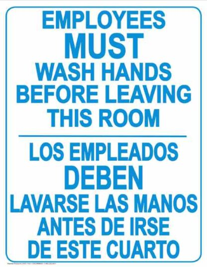 22810 Employees Wash Hands Before Leaving Bilingual
