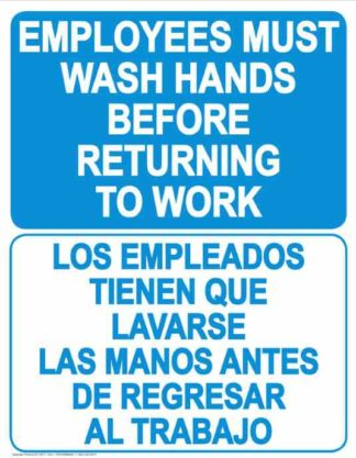 22809 Employees Wash Hands Before Returning Bilingual