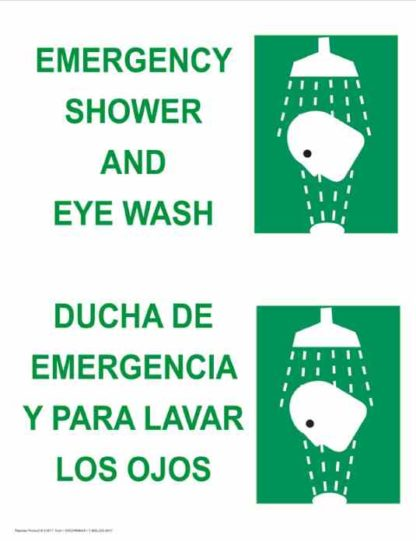 22798 Emergency Shower And Eye Wash Vertical Bilingual