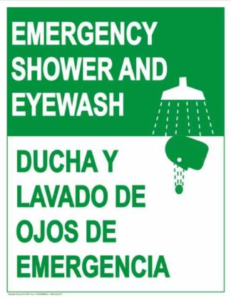 22797 Emergency Shower And Eyewash Vertical Bilingual