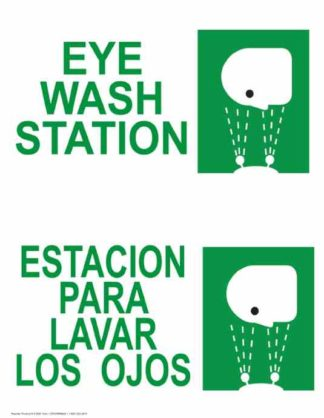 22796 Eye Wash Station Vertical Bilingual
