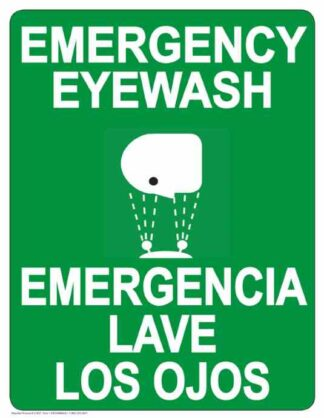 22795 Emergency Eye Wash Bilingual Vertical