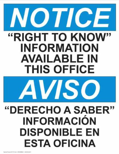 22791 Notice Right To Know Information Available Bilingual
