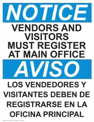 22765 Notice Vendors And Visitors Must Register Bilingual