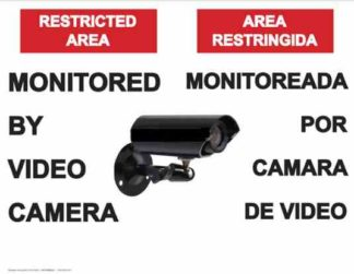 22771 Restricted Area Monitored By Video Camera Bilingual