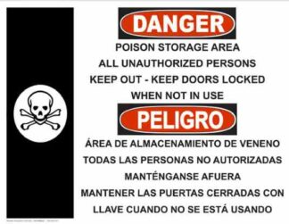 22752 Danger Poison Storage with Poison Bilingual