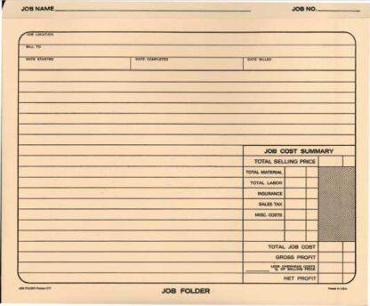 2770 Job Folder - Expandable