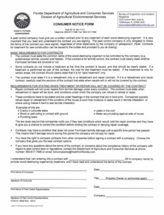 7148 FL Consumer Notice Form