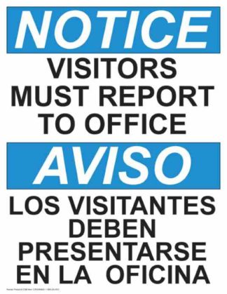 21399-Notice-Visitors-Must-Report-To-Office