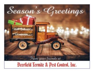 1284 Seasons Greetings - With old fashioned Christmas truck & lights