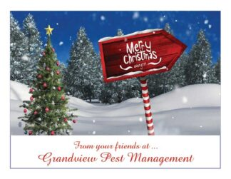1279 Merry Christmas - Sign Personalized With Your Company's Name