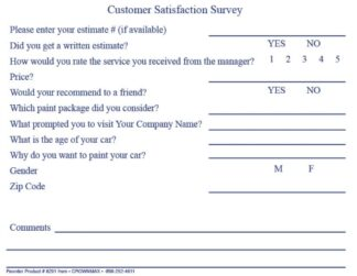 6201-Body-shop-Estimate-Customer-survey