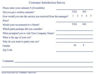 6201-Body-shop-Estimate-Customer-survey