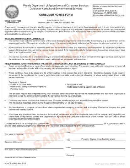 7368 Florida Consumer Consent Form