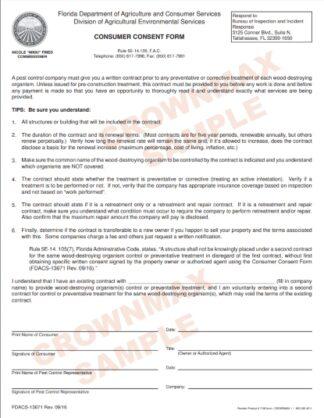 7168 Florida Consumer Consent Forms