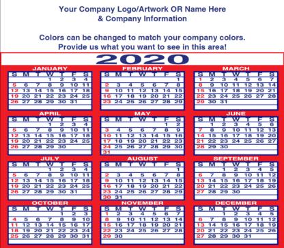 2130 Calendar Refrigerator Magnet