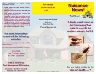 Triatomine Bug Kissing Bug Brochure