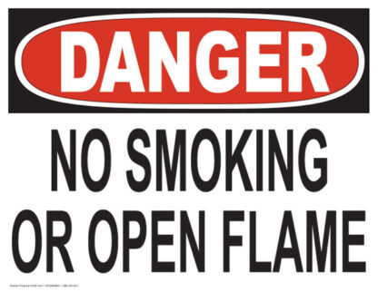 Danger No Smoking or Open Flame Sign