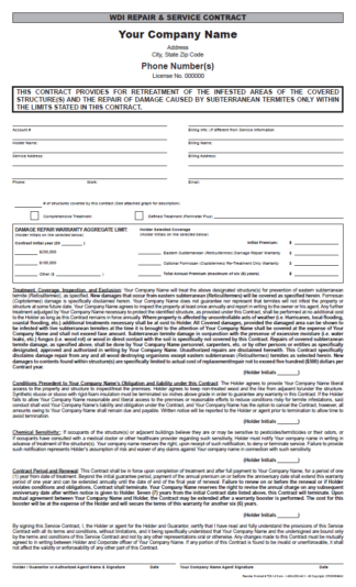 7201 - WDI Repair and Service Contract